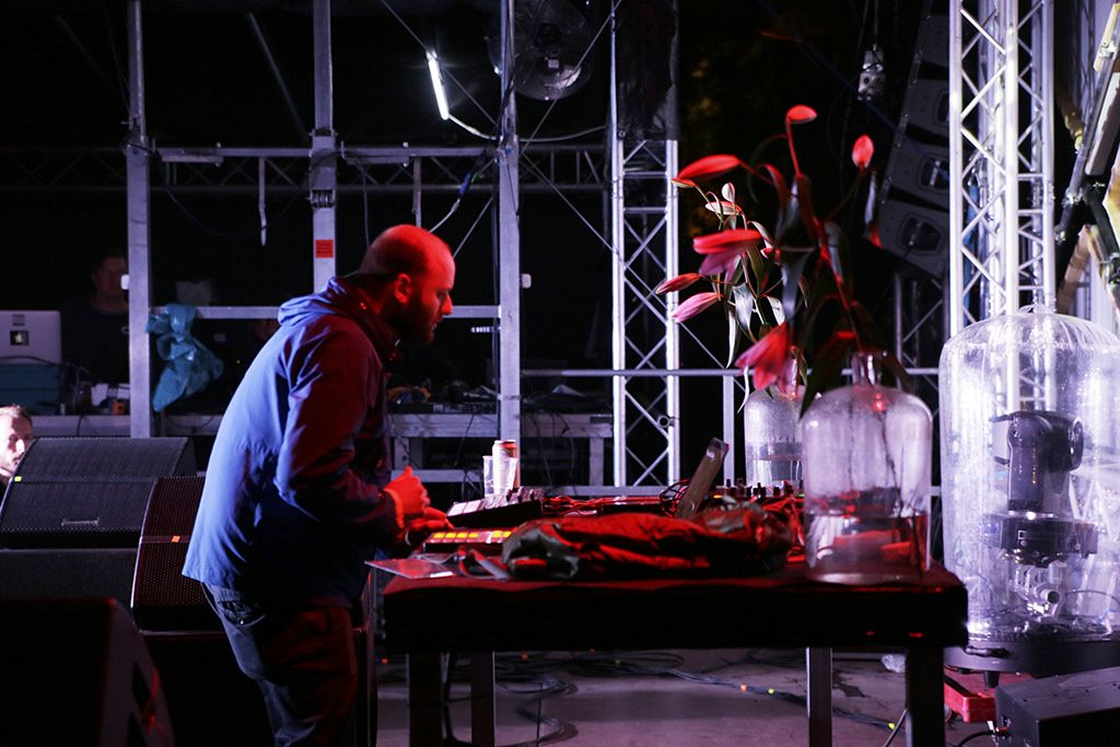 Andy Stott performing at Nachtdigital Festival 2015. Photo by CINEMATA/Flickr.com