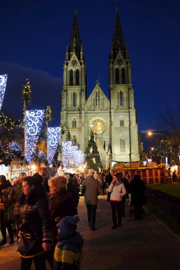 Christmas Market at Namesti Miru. Photo by Richard Hodonicky