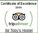sir tobys hostel prague tripadvisor excellence award 2016