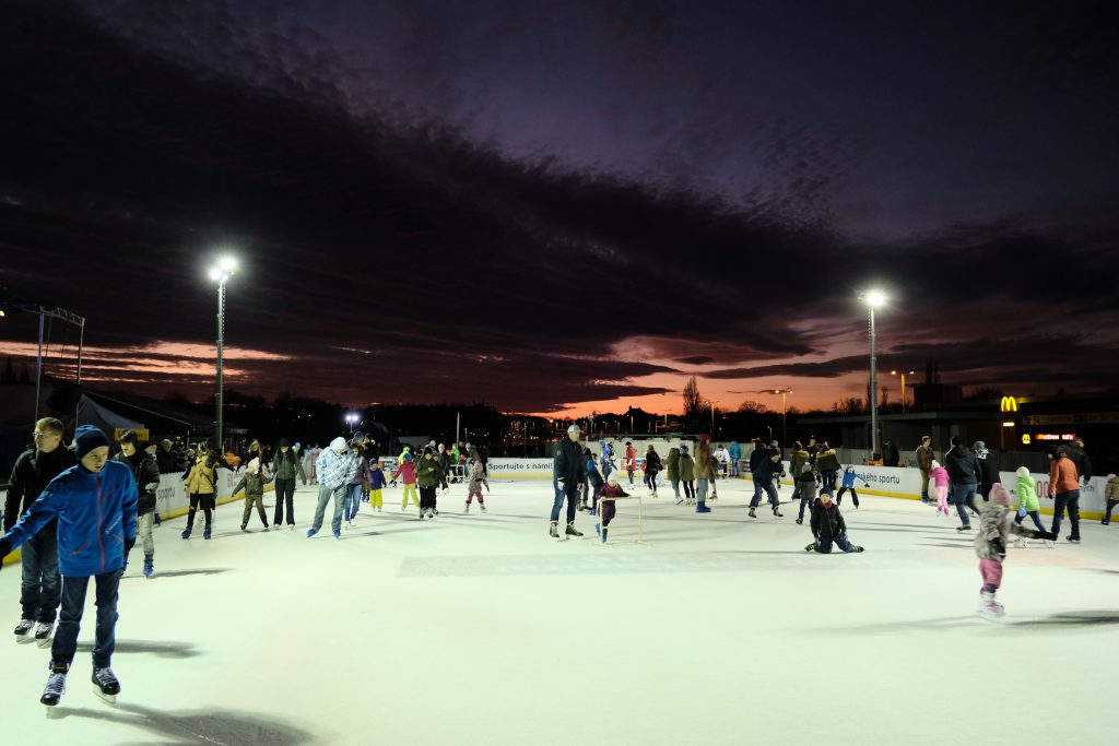 The ice rink at Letna