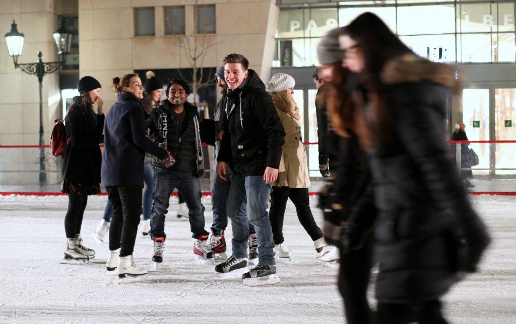 Ice skating at Ovocný Trh / Picture: Richard Hodonicky