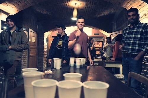sir tobys hostel prague beer pong