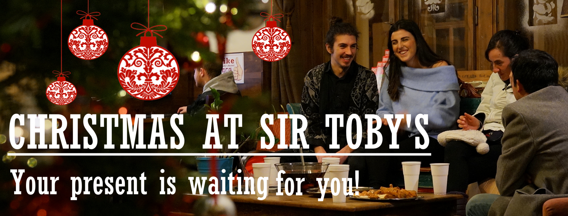 Spend Xmas with your friends at SIr Toby's